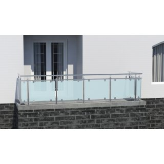 Edelstahl Glasgelander Als Bausatz Fur Terrassen Und Balkone Inoxte