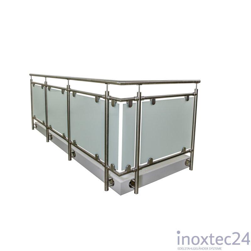 glas gel nder aus edelstahl f r seitliche montage u form gela nderbausa tze aus edelstahl. Black Bedroom Furniture Sets. Home Design Ideas