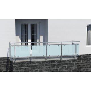 Glas Gelander Aus Edelstahl Fur Seitliche Montage U Form