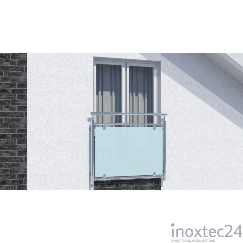 franz sisches edelstahl glasgel nder 1 56 m gela nderbausa tze aus edelstahl. Black Bedroom Furniture Sets. Home Design Ideas