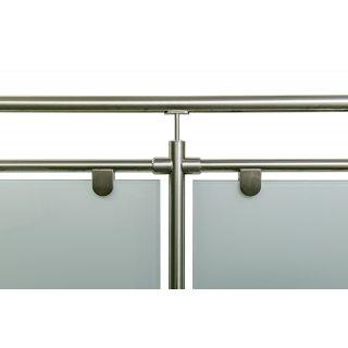 glas gel nder aus edelstahl f r aufgesetzte montage i form 5 77 m gela nderbausa tze aus edelstahl. Black Bedroom Furniture Sets. Home Design Ideas