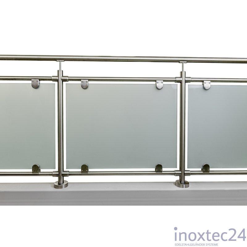 glas gel nder aus edelstahl f r aufgesetzte montage i form 6 73 m gela nderbausa tze aus edelstahl. Black Bedroom Furniture Sets. Home Design Ideas