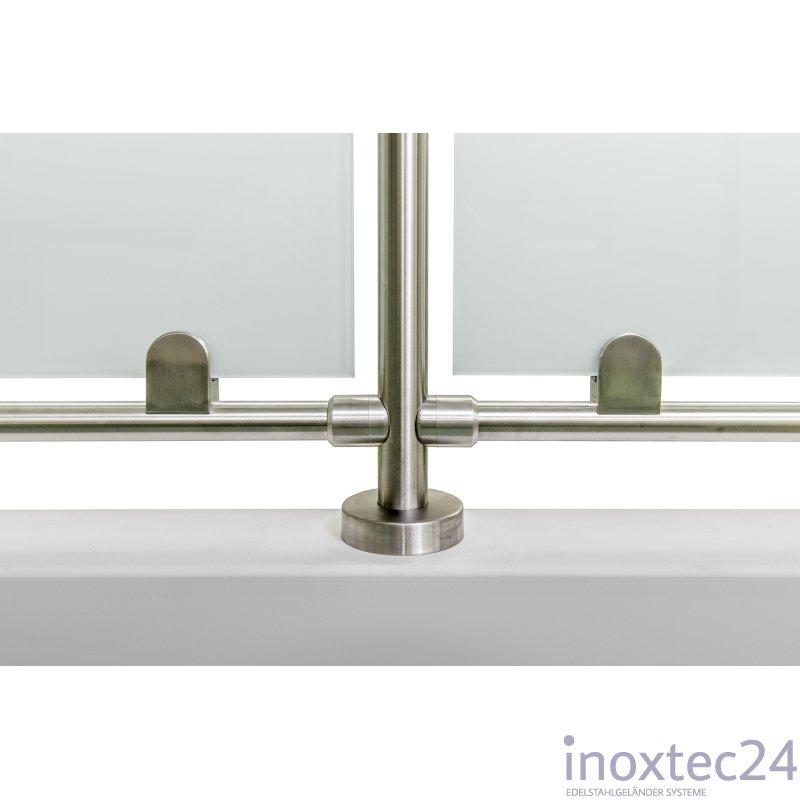 glas gel nder nach mass aus edelstahl f r aufgesetzte montage i form gela nderbausa tze aus. Black Bedroom Furniture Sets. Home Design Ideas