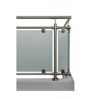 glas gel nder nach mass aus edelstahl f r aufgesetzte montage l form ecke rechts. Black Bedroom Furniture Sets. Home Design Ideas