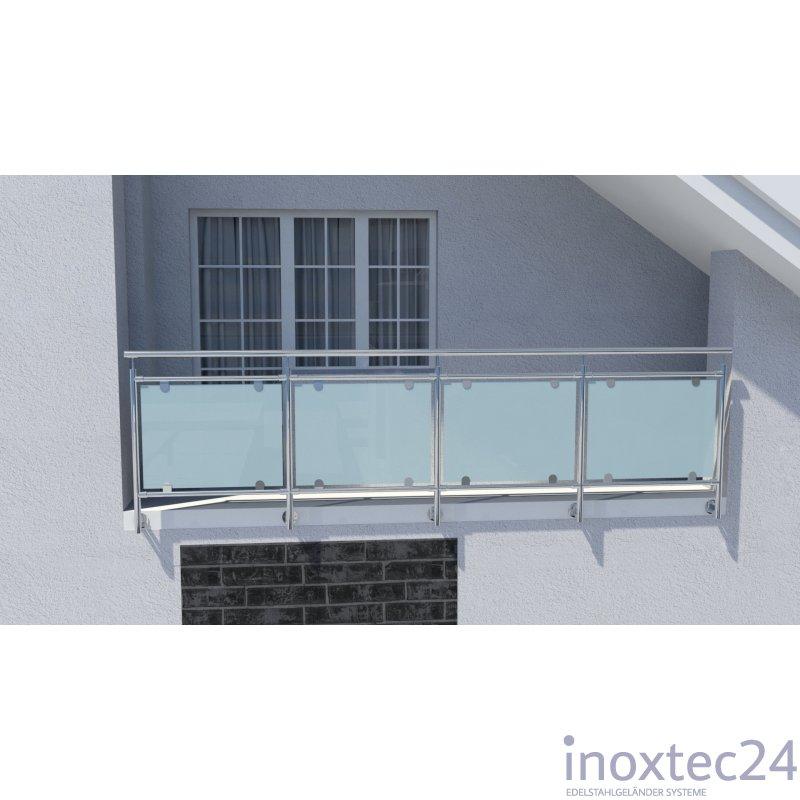 glas gel nder nach mass aus edelstahl f r seitliche montage i form gela nderbausa tze aus. Black Bedroom Furniture Sets. Home Design Ideas