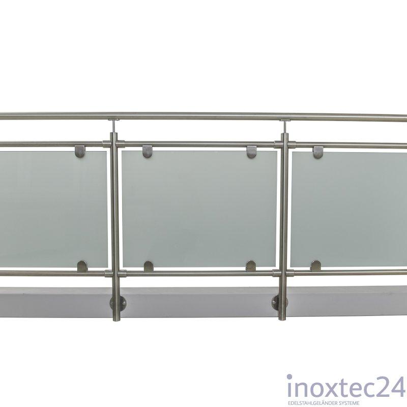 glas gel nder nach mass aus edelstahl f r seitliche montage u form gela nderbausa tze aus. Black Bedroom Furniture Sets. Home Design Ideas